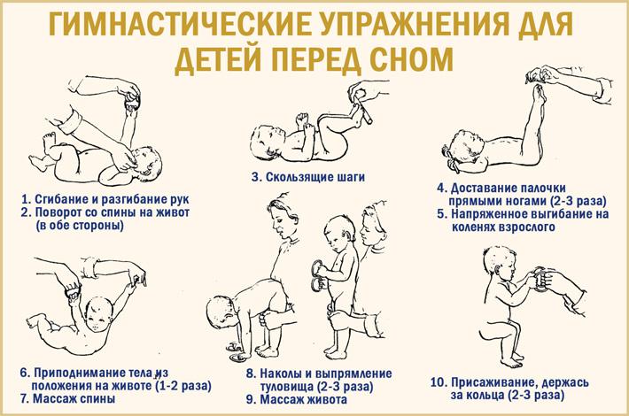 Гимнастика в домашних условиях для детей перед сном