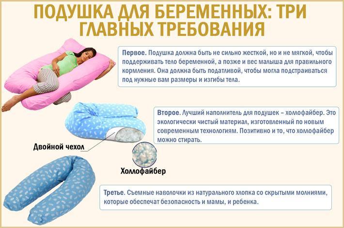 Какие плюсы имеет подушка для беременных?