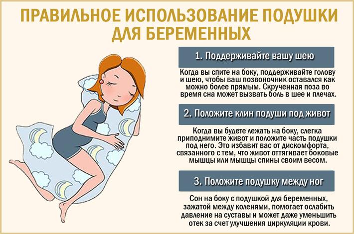 Как использовать подушку для беременных?
