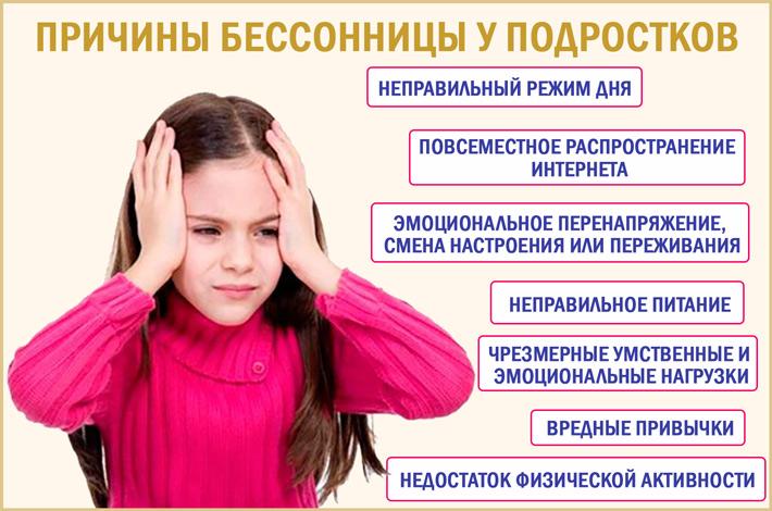 Бессонница у подростков