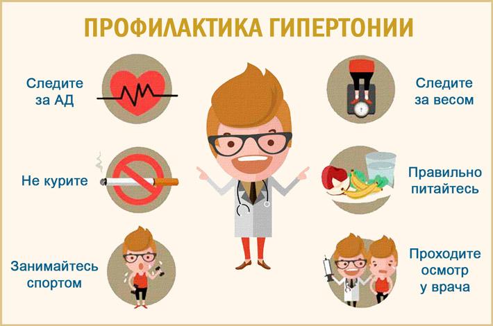 Профилактика гипертонических заболеваний