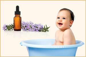 Лаванда при купании малыша
