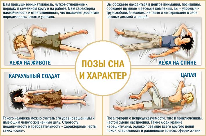 Определить характер по позе сна