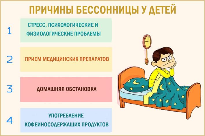 Бессонница у ребенка: почему бывают нарушение сна