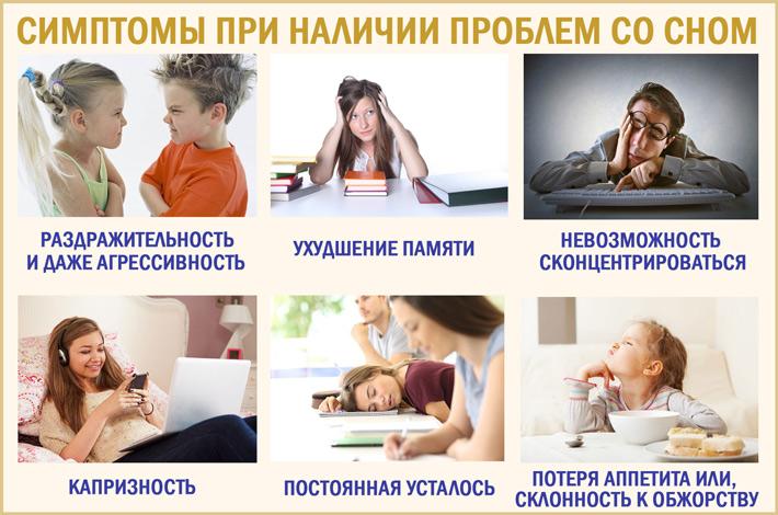 Нарушения сна: симптомы