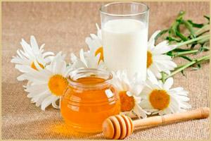 Стакан молока и мед