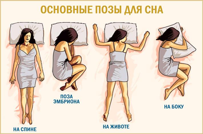 Выбрать позу для сна