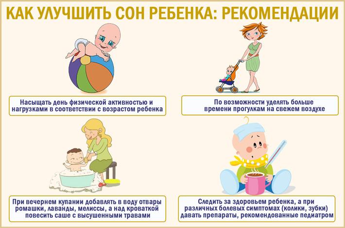 Советы, как улучшить сон ребенка