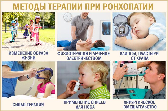 Методы терапии при храпе у детей