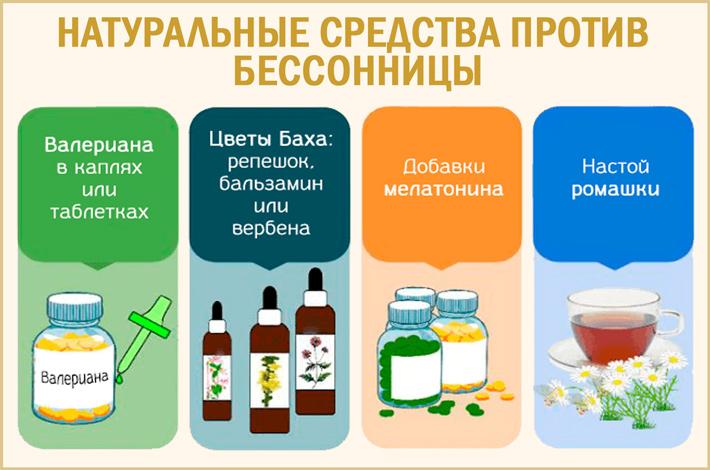 Лечение бессонницы натуральными средствами