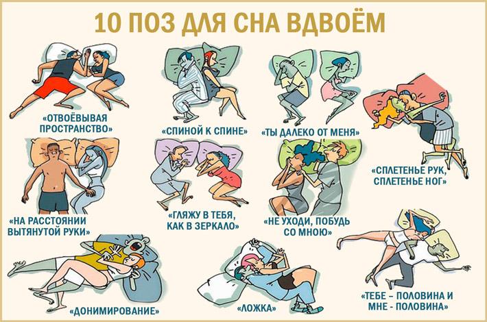 Позы во время сна вдвоем