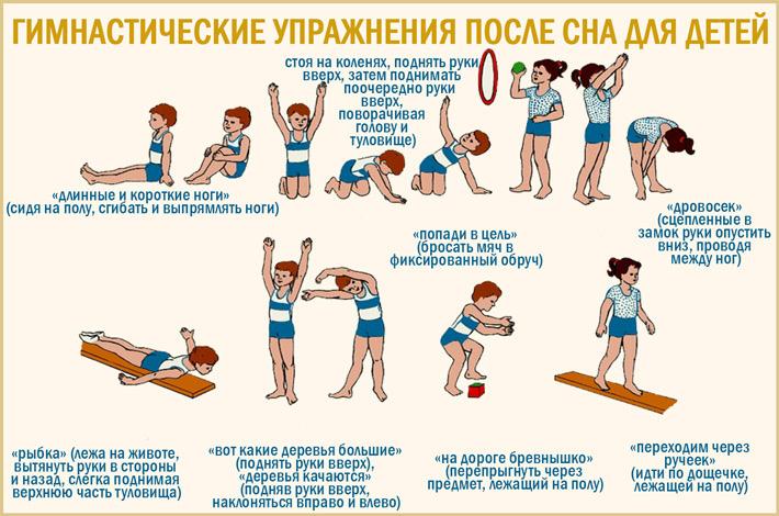 Пробуждающая гимнастика после сна для детей