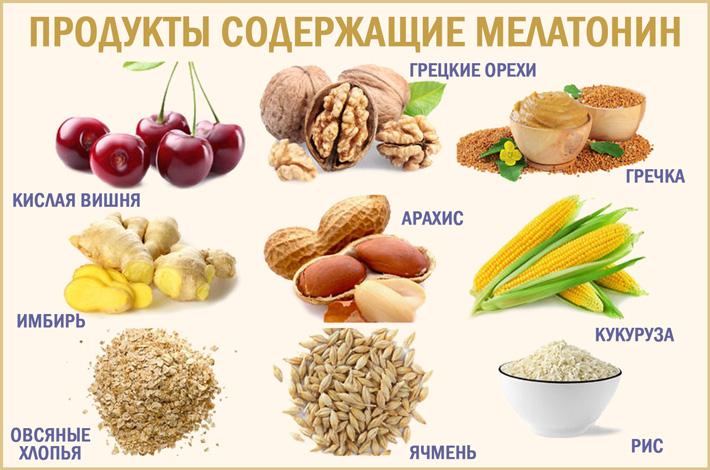 ТОП продуктов, содержащих мелатонин