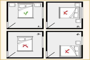 Как поставить кровать в спальне по фен-шуй?