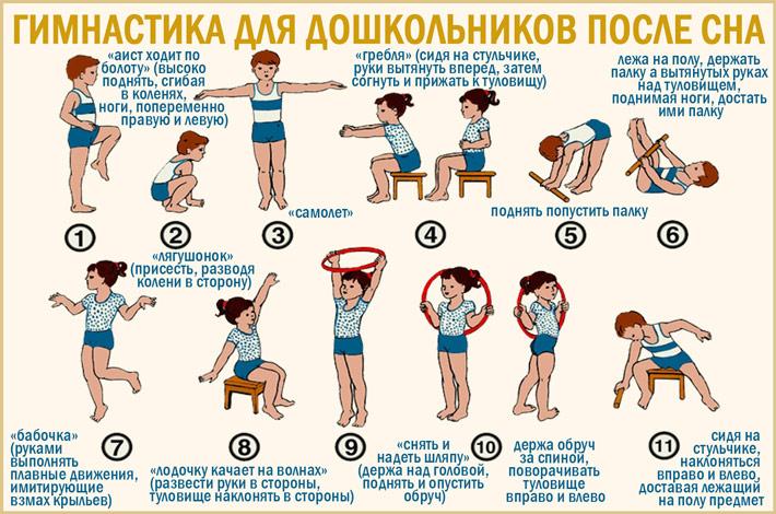 Гимнастика после сна для детей среднего дошкольного возраста