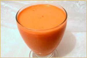 Морковный сок и кефир