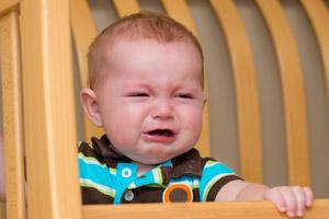 Отход ко сну сопровождается детским плачем