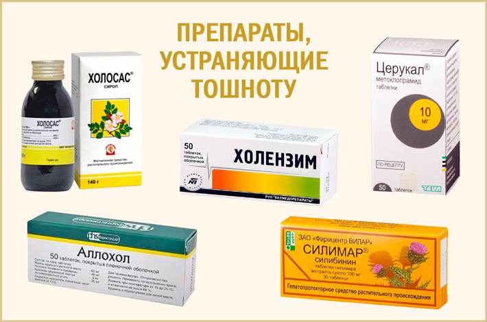 Лекарства от тошноты