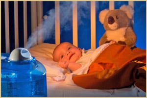 Увлажнитель в спальне малыша