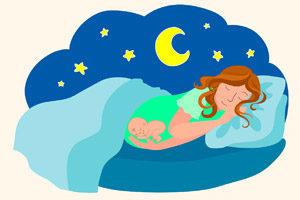 Отдых в позе «животом вниз» у беременных женщин