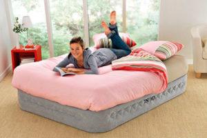 Основные характеристики надувных матрасов для сна