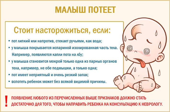 Почему малыш потеет?