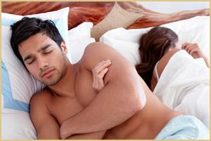 Поза сна, когда супруги в ссоре