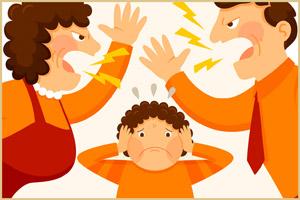 Родители ругаются на глазах у ребенка