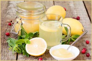 Лимонный сок с медом