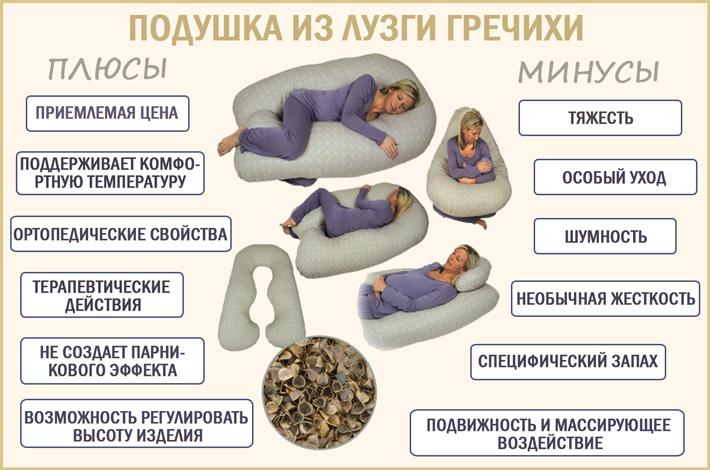 Гречневая подушка: польза и вред