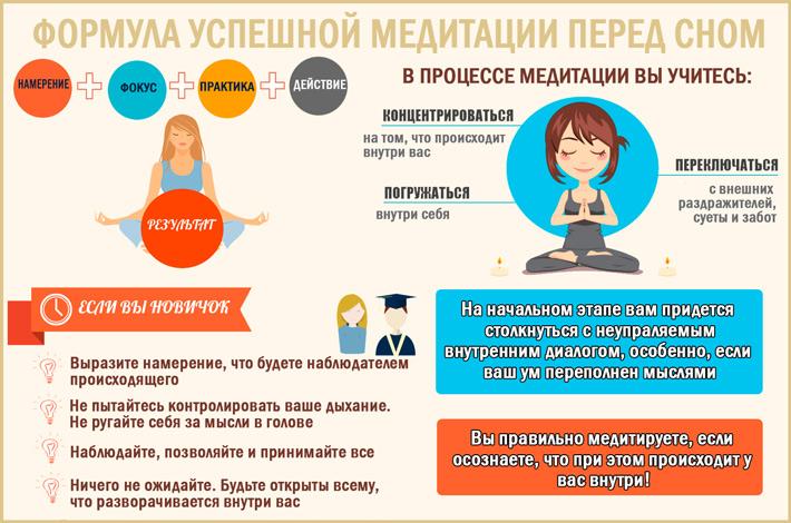 Условия успешной медитации перед сном